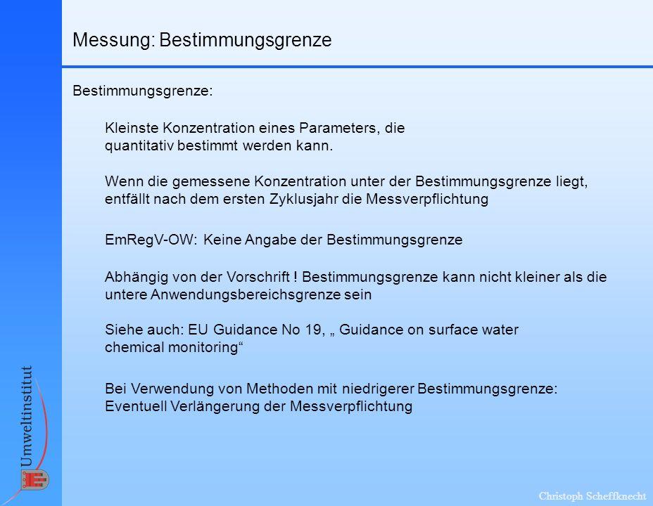 Messung: Bestimmungsgrenze