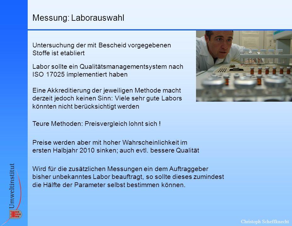Messung: Laborauswahl