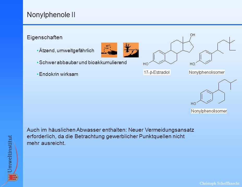 Nonylphenole II Eigenschaften