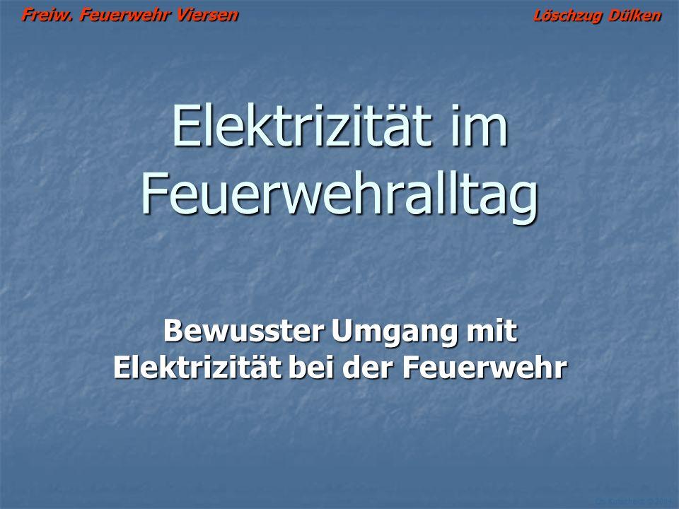 Elektrizität im Feuerwehralltag
