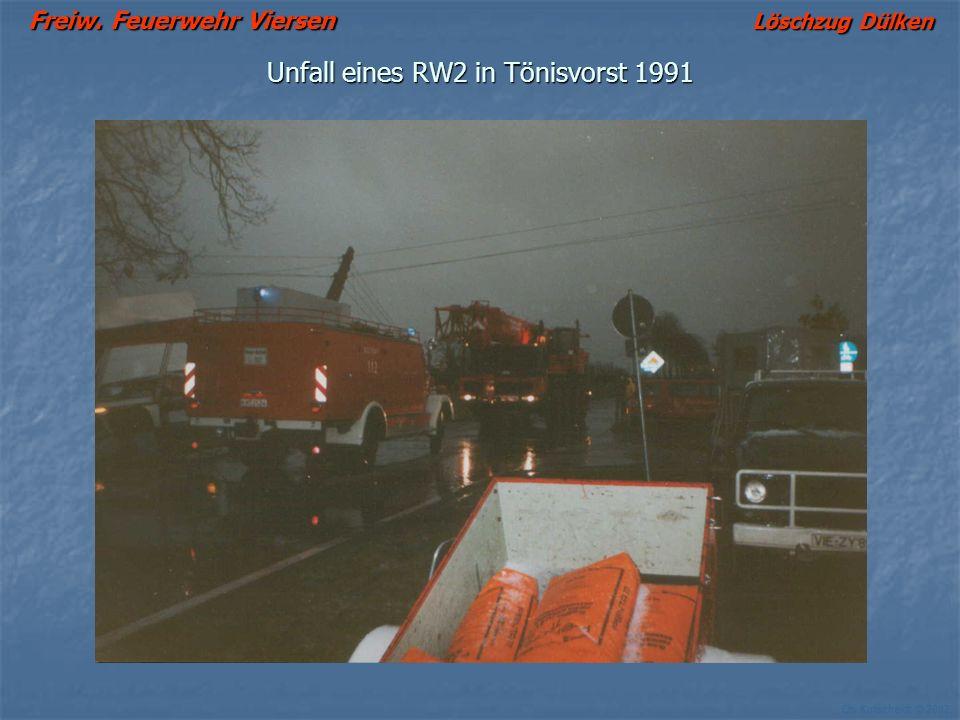Unfall eines RW2 in Tönisvorst 1991