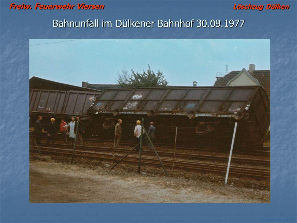 Bahnunfall im Dülkener Bahnhof 30.09.1977