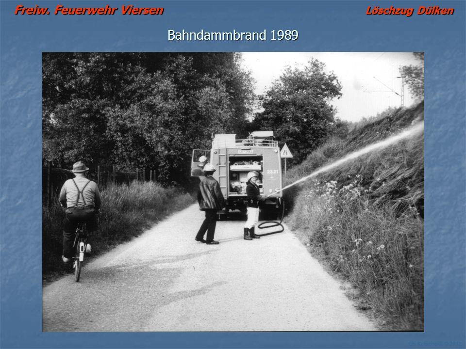 Bahndammbrand 1989