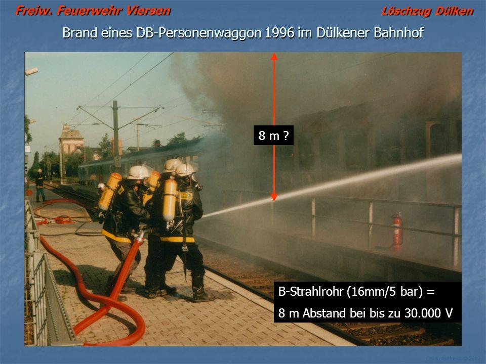 Brand eines DB-Personenwaggon 1996 im Dülkener Bahnhof