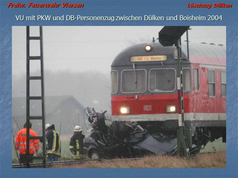 VU mit PKW und DB-Personenzug zwischen Dülken und Boisheim 2004