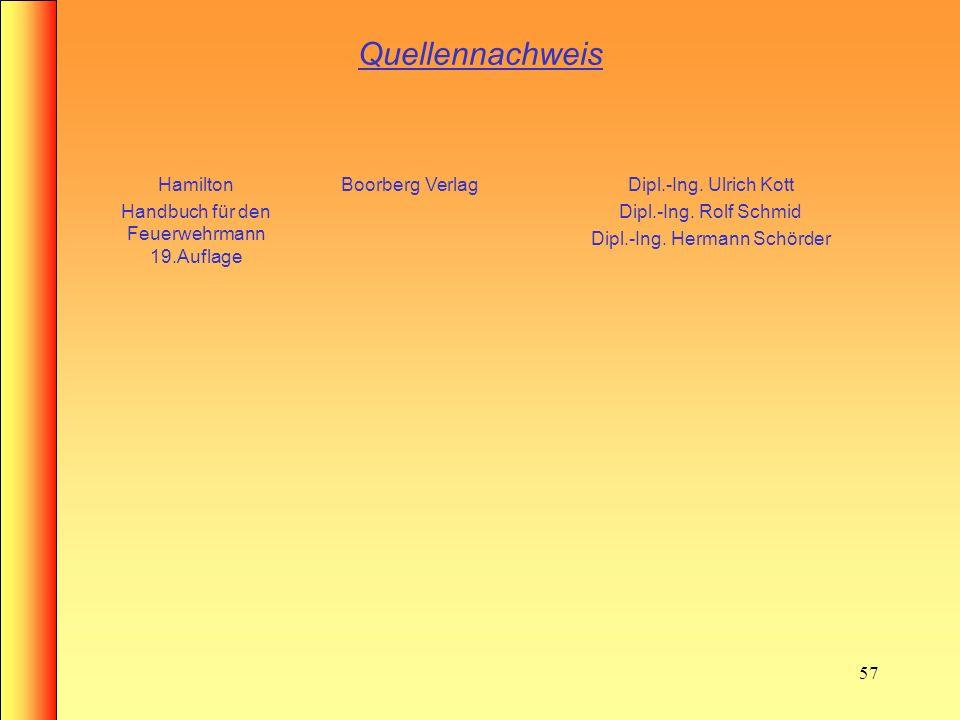 Quellennachweis Hamilton Handbuch für den Feuerwehrmann 19.Auflage