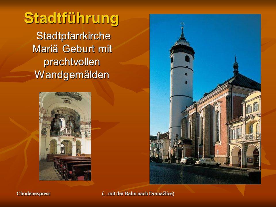 Stadtführung Stadtpfarrkirche Mariä Geburt mit prachtvollen Wandgemälden.