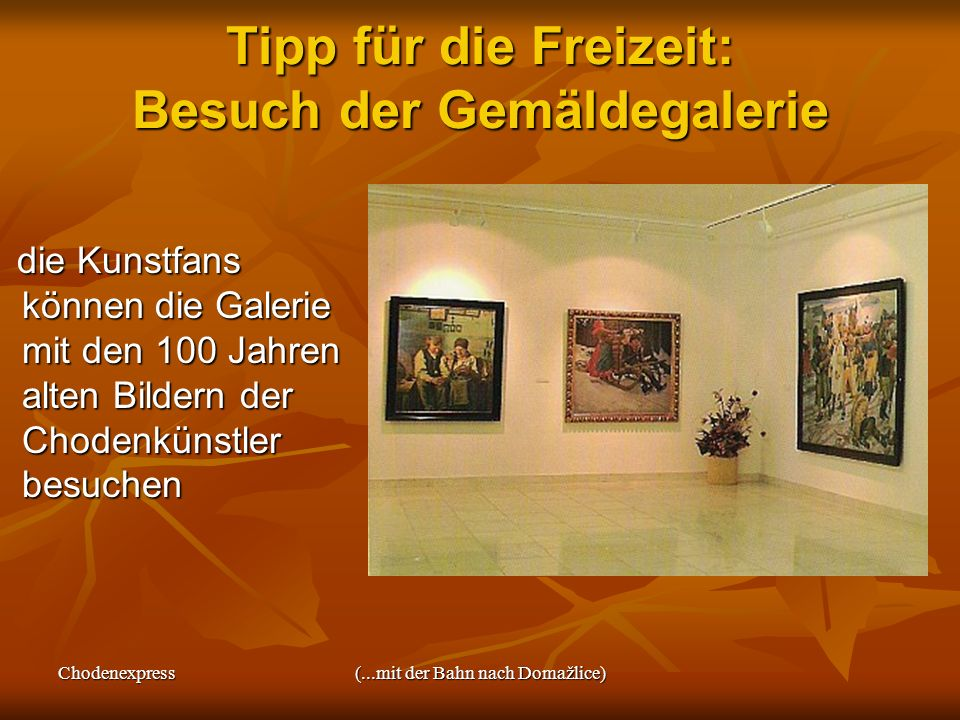 Tipp für die Freizeit: Besuch der Gemäldegalerie