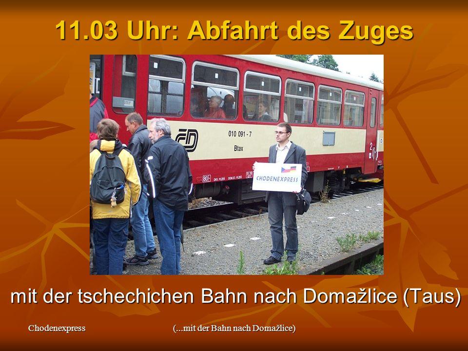 (...mit der Bahn nach Domažlice)