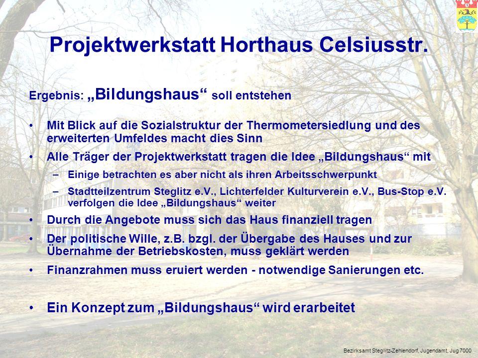 Projektwerkstatt Horthaus Celsiusstr.