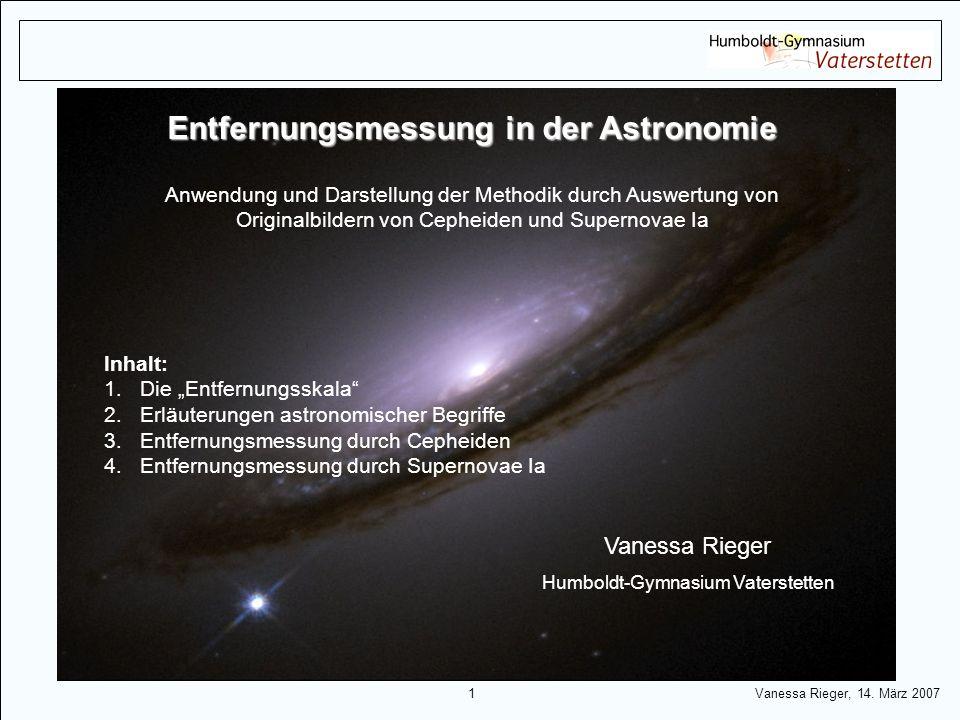 Entfernungsmessung in der Astronomie