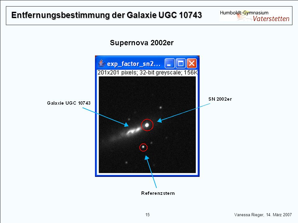 Entfernungsbestimmung der Galaxie UGC 10743