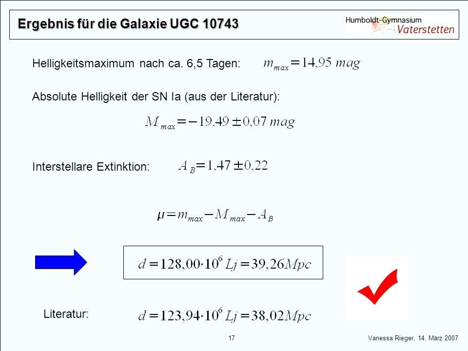 Ergebnis für die Galaxie UGC 10743
