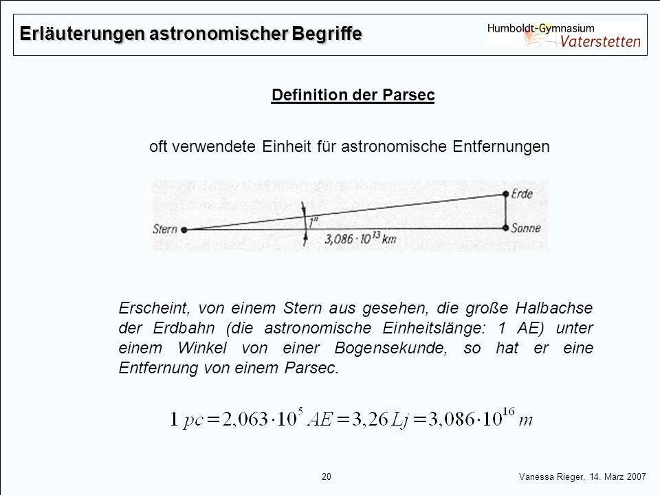 Erläuterungen astronomischer Begriffe