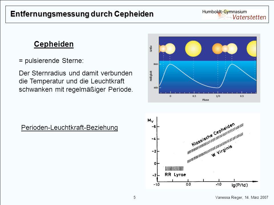 Entfernungsmessung durch Cepheiden