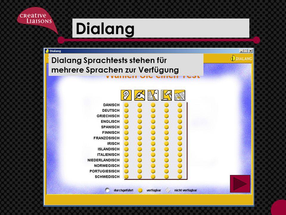 Dialang Dialang Sprachtests stehen für mehrere Sprachen zur Verfügung