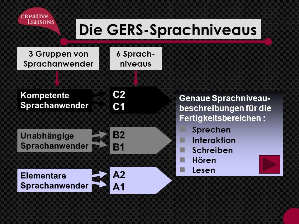 Die GERS-Sprachniveaus