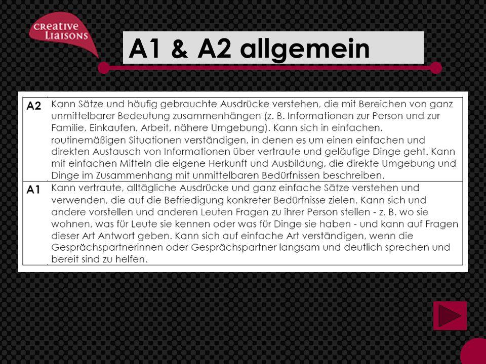 A1 & A2 allgemein