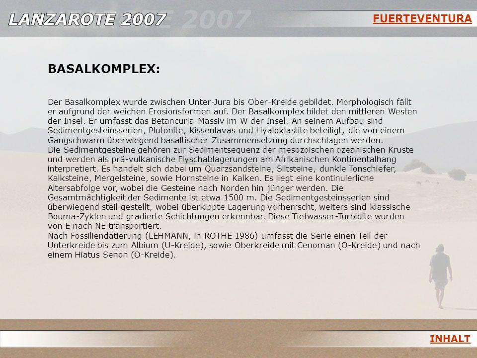 BASALKOMPLEX: FUERTEVENTURA INHALT