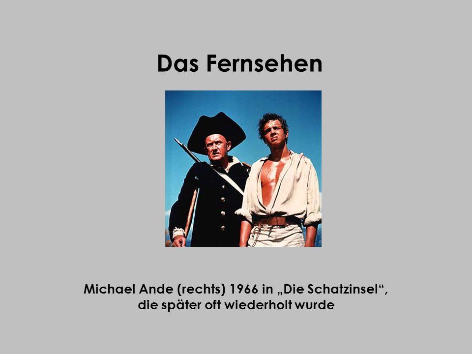 """Das Fernsehen Michael Ande (rechts) 1966 in """"Die Schatzinsel ,"""