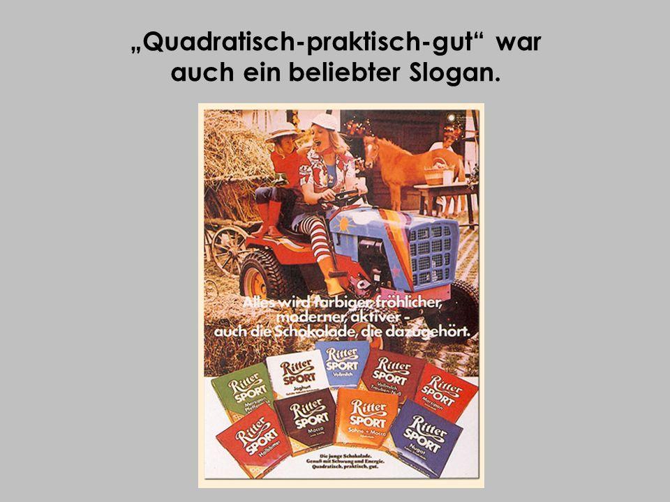 """""""Quadratisch-praktisch-gut war auch ein beliebter Slogan."""