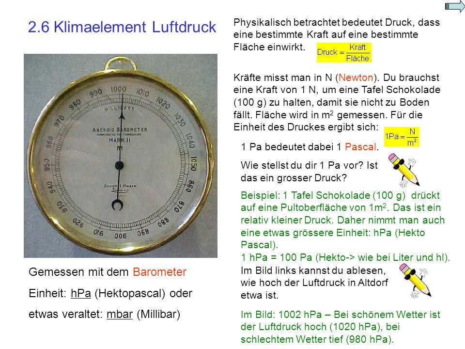 2.6 Klimaelement Luftdruck