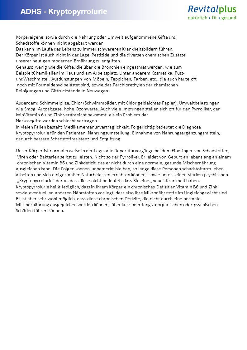ADHS - Kryptopyrrolurie