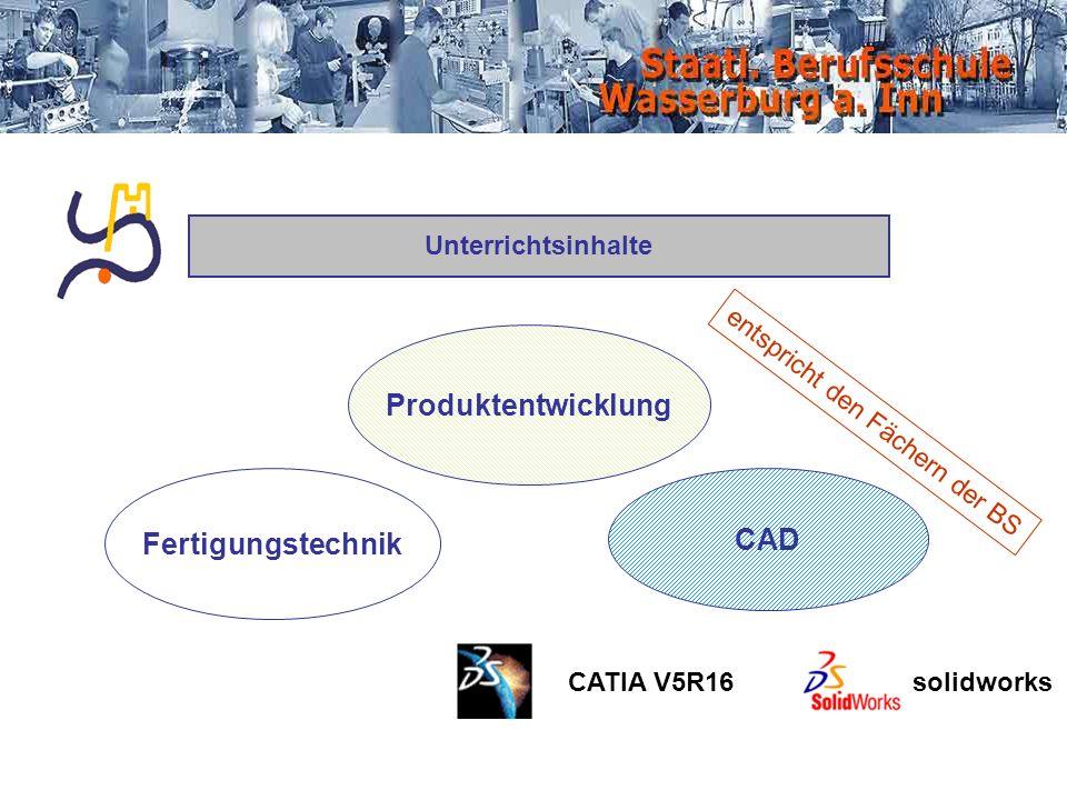 Produktentwicklung Fertigungstechnik CAD