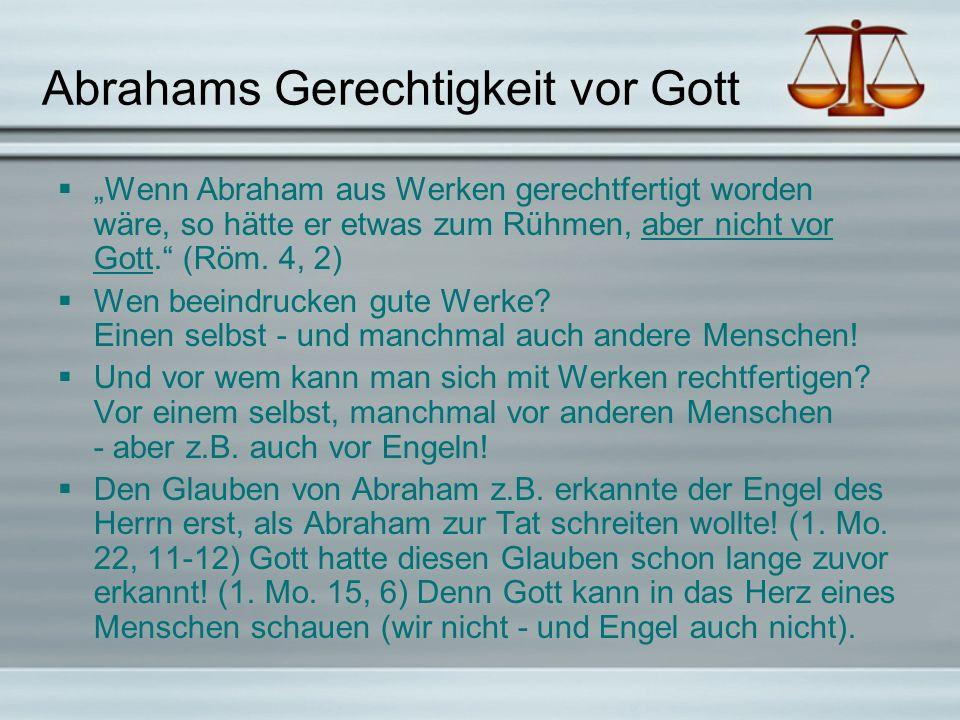 Abrahams Gerechtigkeit vor Gott