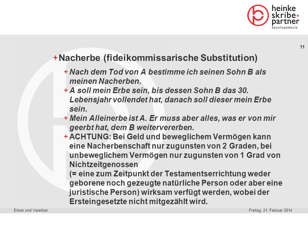 Nacherbe (fideikommissarische Substitution)