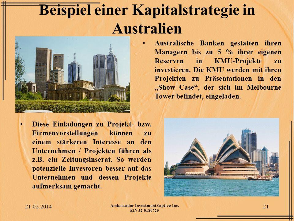 Beispiel einer Kapitalstrategie in Australien