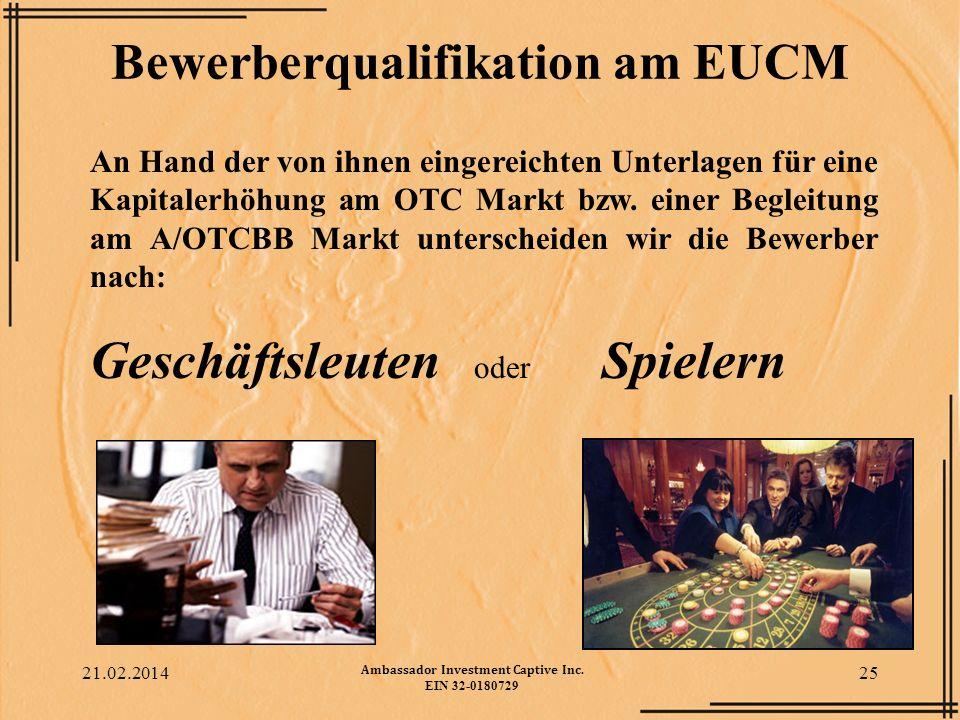Bewerberqualifikation am EUCM