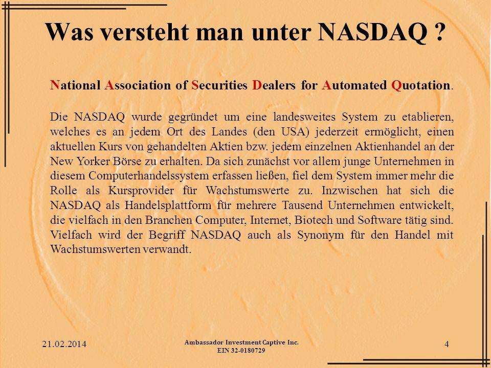 Was versteht man unter NASDAQ