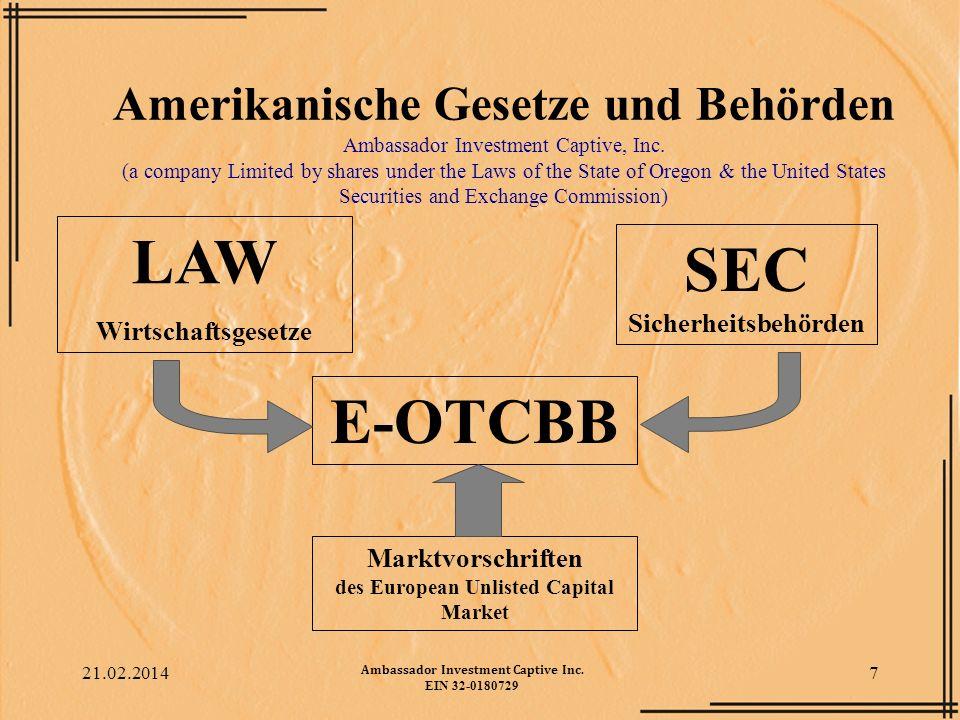 LAW SEC Sicherheitsbehörden E-OTCBB