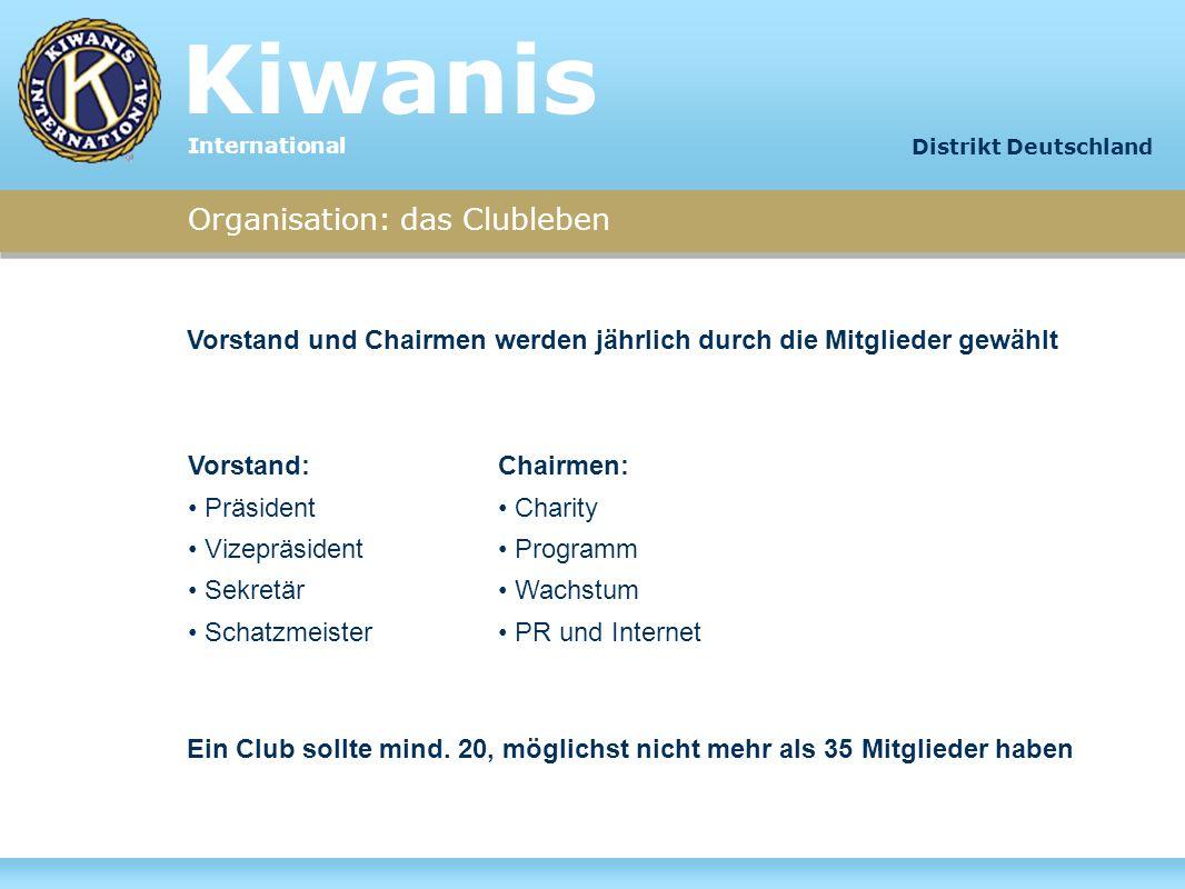 Kiwanis Organisation: das Clubleben