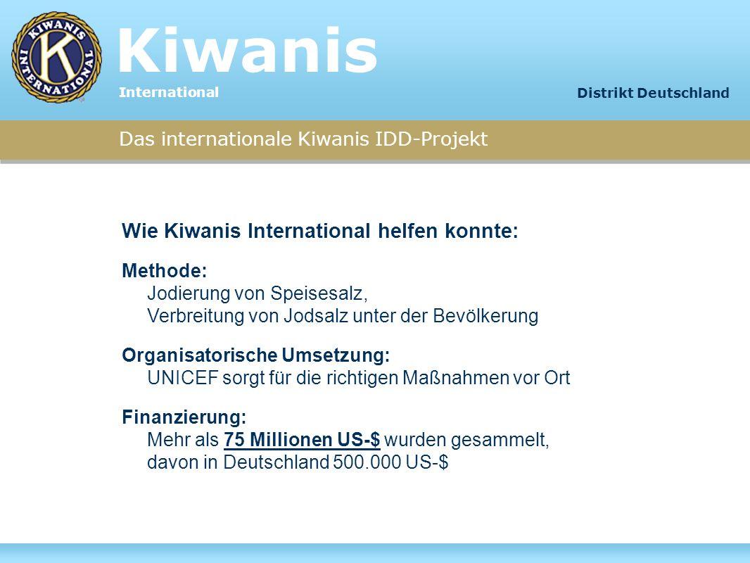 Kiwanis Wie Kiwanis International helfen konnte: