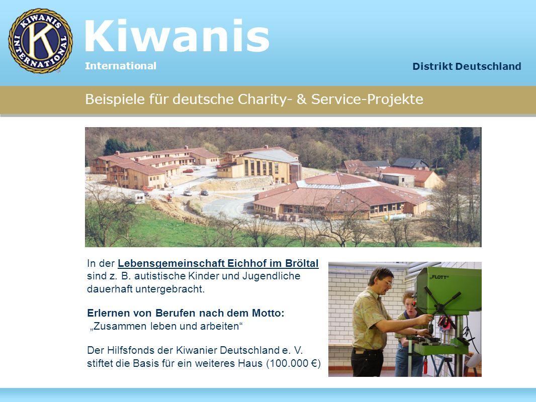 Kiwanis Beispiele für deutsche Charity- & Service-Projekte