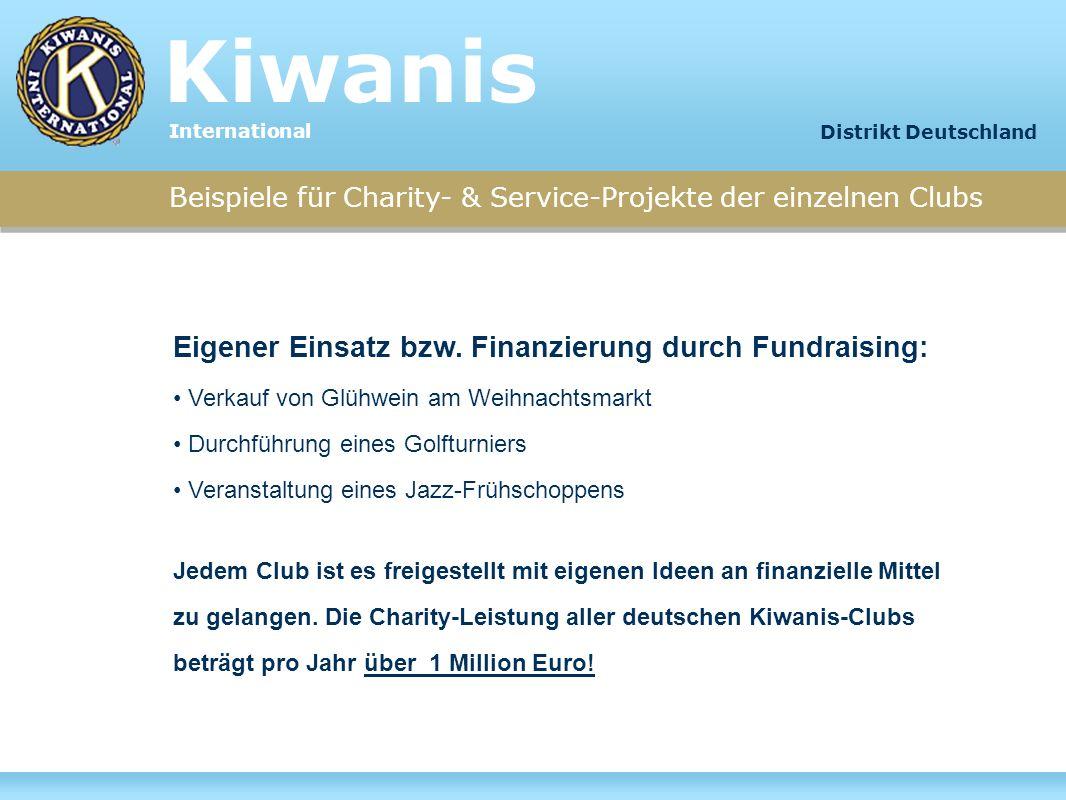 Kiwanis International. Distrikt Deutschland. Beispiele für Charity- & Service-Projekte der einzelnen Clubs.