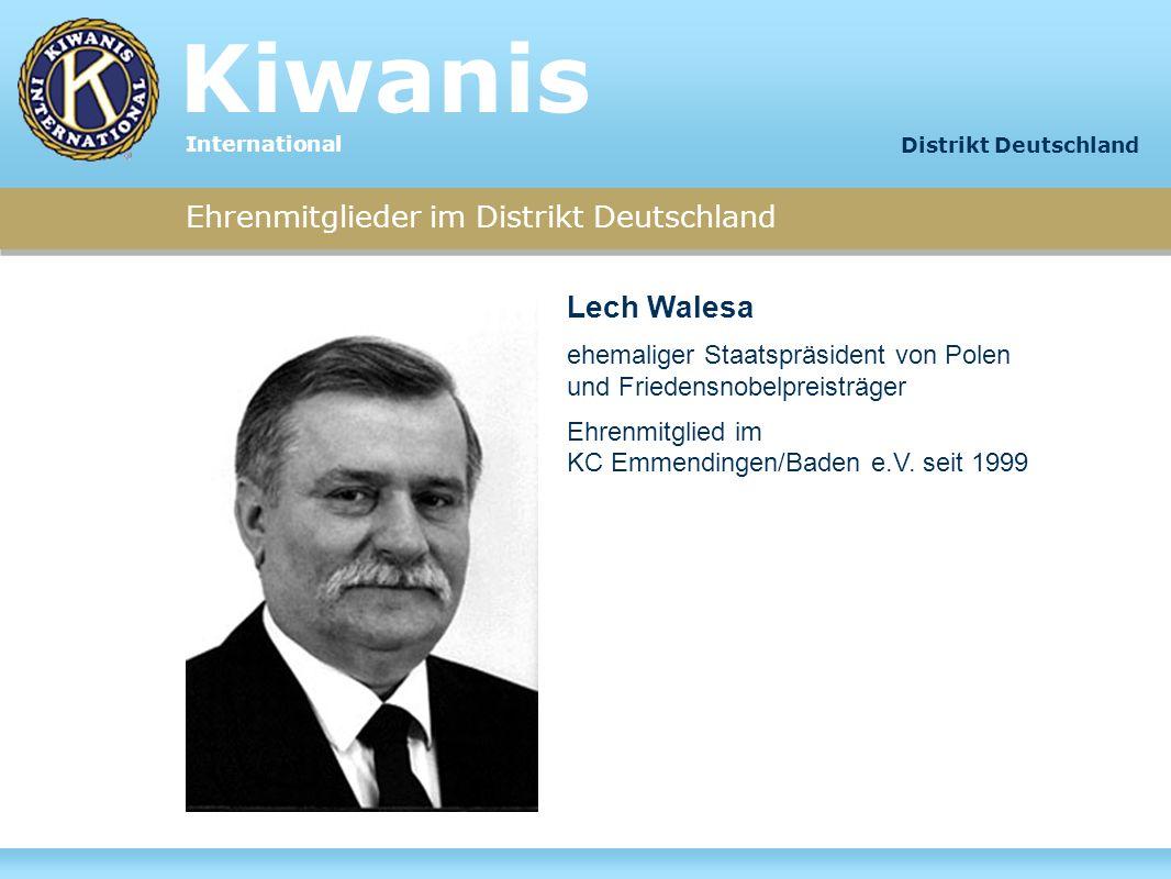 Kiwanis Lech Walesa Ehrenmitglieder im Distrikt Deutschland