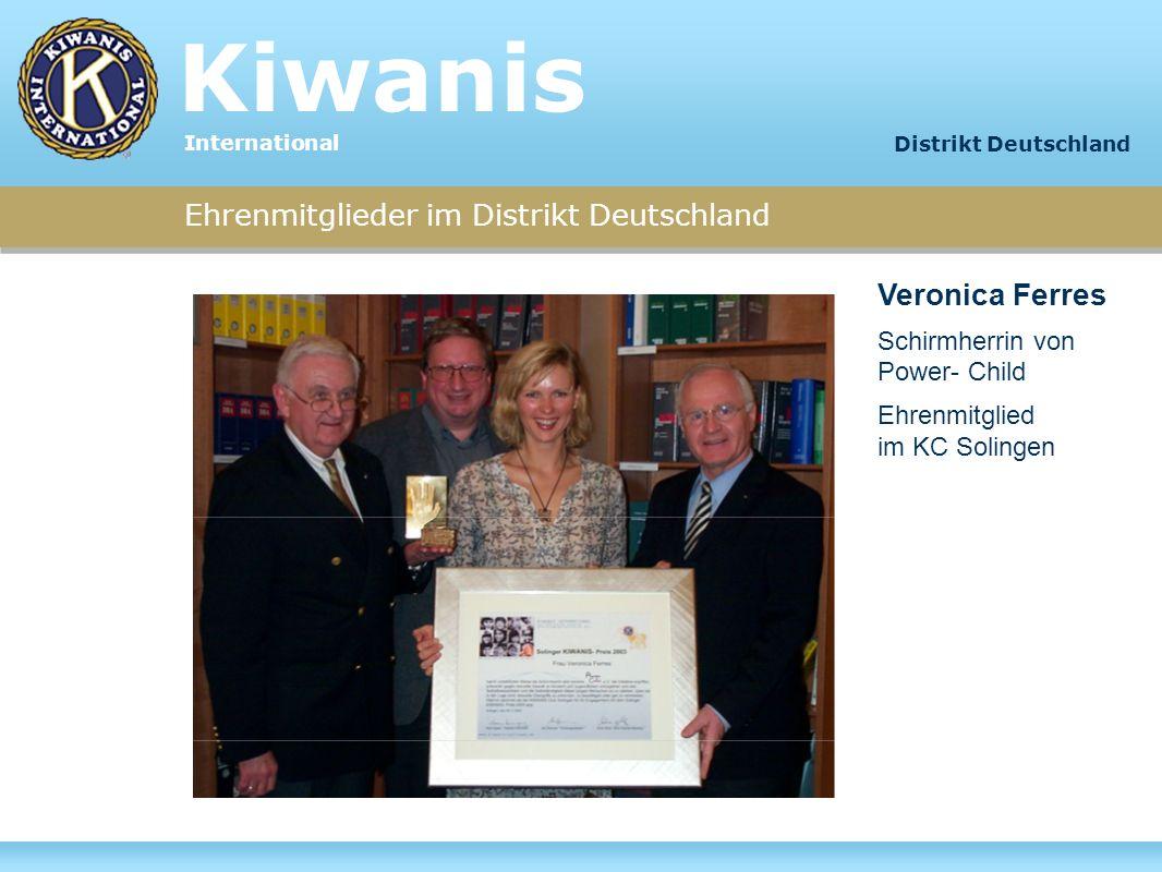 Kiwanis Veronica Ferres Ehrenmitglieder im Distrikt Deutschland