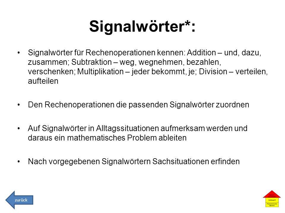 Signalwörter*: