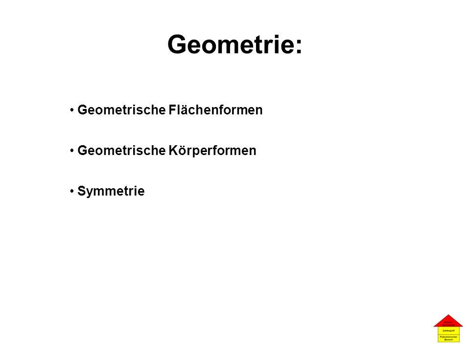 Geometrie: Geometrische Flächenformen Geometrische Körperformen