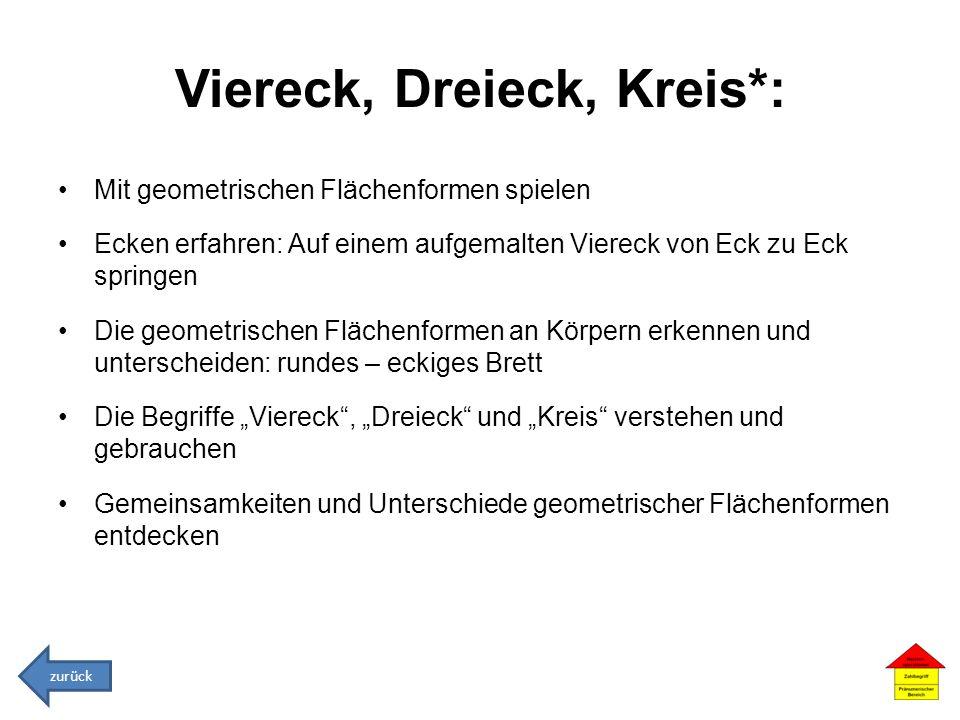 Viereck, Dreieck, Kreis*: