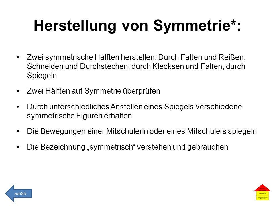 Herstellung von Symmetrie*: