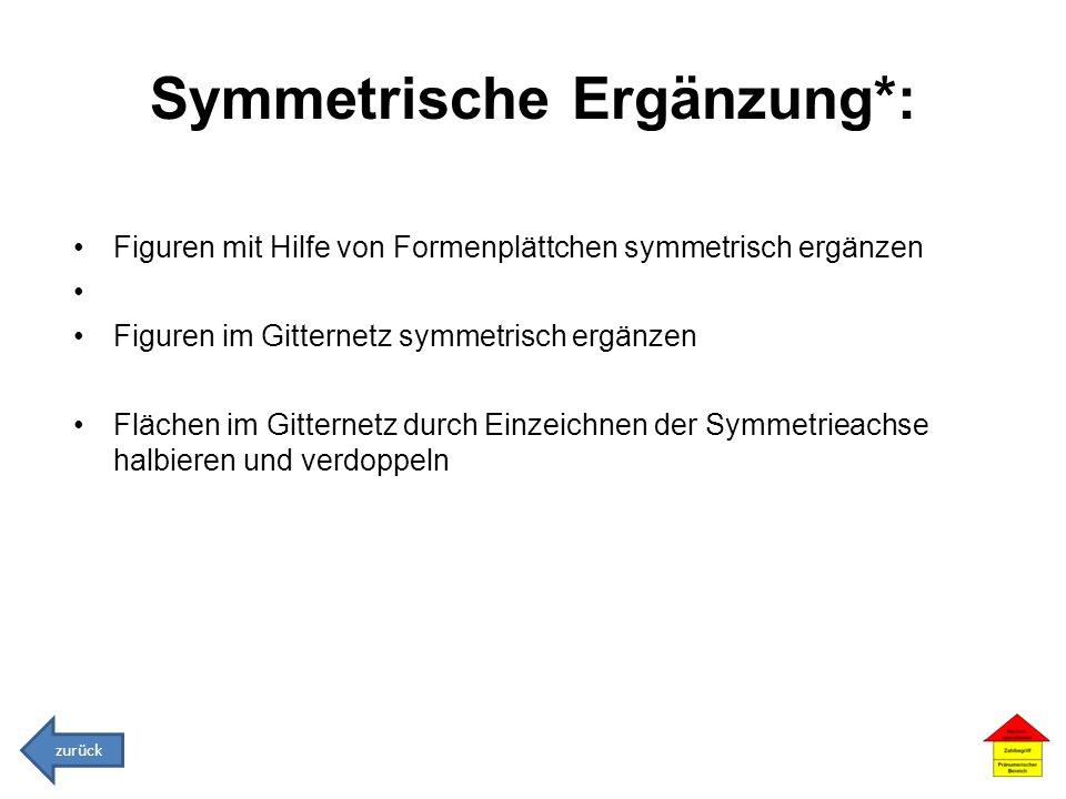 Symmetrische Ergänzung*:
