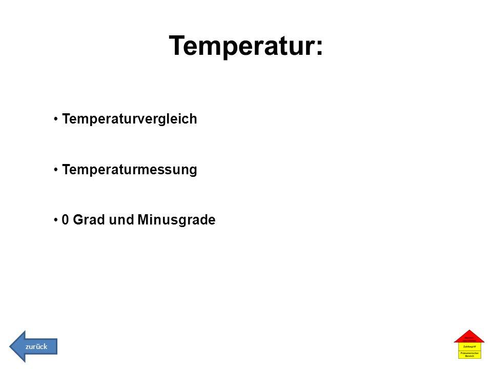 Temperatur: Temperaturvergleich Temperaturmessung