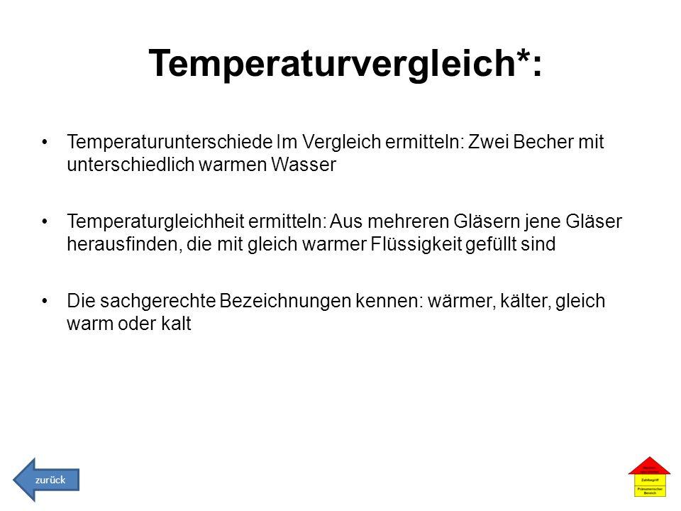 Temperaturvergleich*: