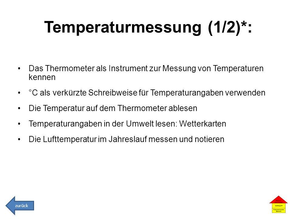 Temperaturmessung (1/2)*: