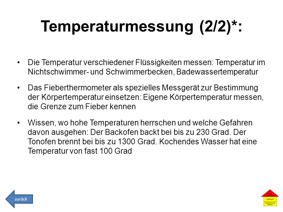 Temperaturmessung (2/2)*: