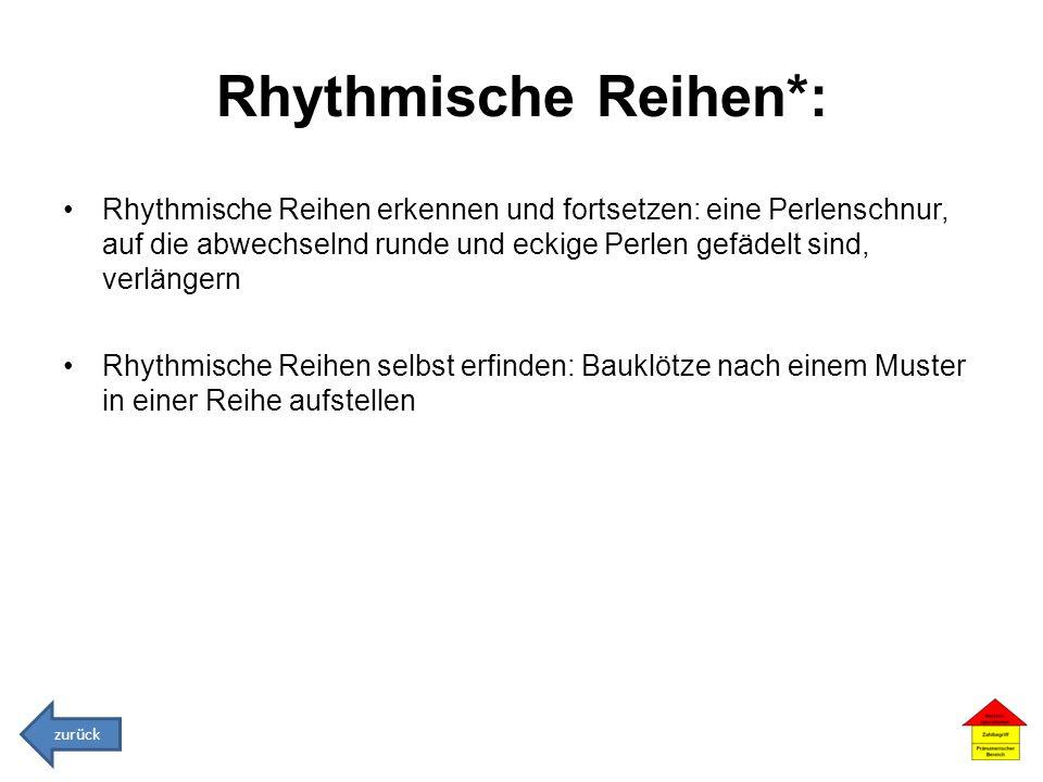 Rhythmische Reihen*: